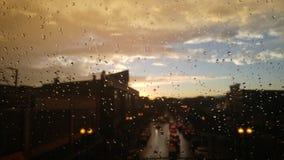 Ненастное настроение захода солнца Стоковое Изображение