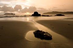 ненастный заход солнца Стоковое Изображение