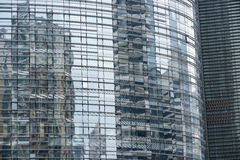 Ненесущая стена стекла небоскреба Стоковые Фото