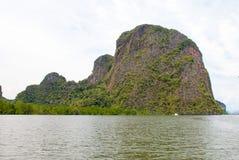 Необжитый остров в Таиланде Стоковое Изображение