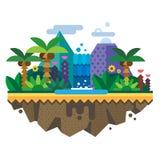 Необжитый остров, джунгли Стоковые Фото