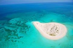 необитаемый остров Стоковое Изображение