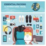 Необходимая упаковка для международного перемещения бесплатная иллюстрация