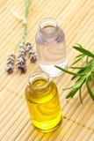 необходимый rosemary масла лаванды Стоковые Фото