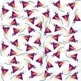 Необыкновенная картина треугольников и линий Иллюстрация вектора