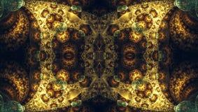 Необыкновенная красивая пестротканая бабочка цветного стекла Формы фрактали конспекта симметричные иллюстрация штока
