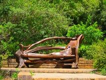 Необыкновенная скамейка в парке Стоковое фото RF