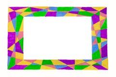 Необыкновенной красочной абстрактной яркой рамка нарисованная свободной рукой Стоковая Фотография