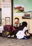 Необыкновенные девушки в токио Мода в Японии Перемещение вокруг Азии стоковые фото