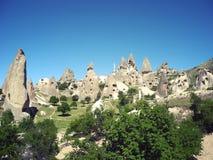 Необыкновенные дома Cappadocia, Турция Стоковое Изображение