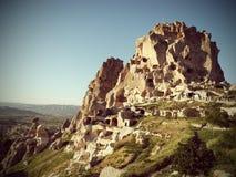Необыкновенные дома Cappadocia Стоковые Фото