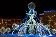 Необыкновенные освещения рождества Стоковое Фото