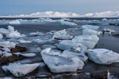 Необыкновенный ледовитый ландшафт льда Стоковые Фото
