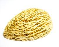 Необыкновенный желтый грецкий орех на белой предпосылке стоковые изображения rf