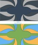 Необыкновенный современный материальный дизайн Комплект Backgrouds 16:9 формата Стоковая Фотография