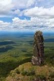 Неоглядная ширь Взгляд от гор Естественные каменные штендеры явление Chiquitania bolivians стоковые изображения rf