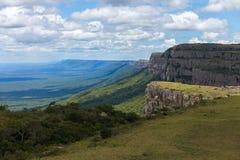 Неоглядная ширь Взгляд от гор Chiquitania bolivians стоковое изображение rf