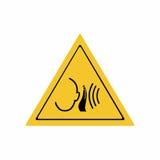 Неожиданный дизайн вектора знака сильного шума Стоковое Фото