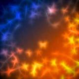 Неоновая абстрактная красочная предпосылка обоев Стоковые Фото