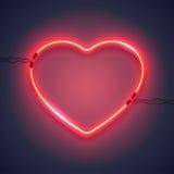 Неоновая лампа heart-01 Стоковые Изображения RF