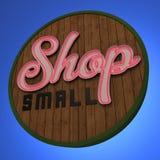 Неоновая вывеска магазина малая Стоковая Фотография RF