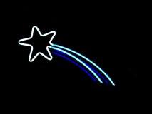 неоновая звезда стрельбы Стоковая Фотография RF