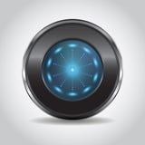 неоновая кнопка Стоковое Изображение RF