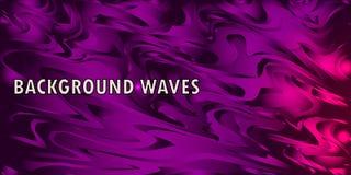 Неоновая накаляя волна, волшебная энергия и свет жестикулируют предпосылку Шаблон обоев вектора иллюстрация штока