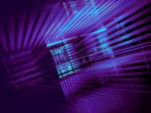 Неоновая накаляя решетка - конспект цифров произвел иллюстрацию 3d иллюстрация штока