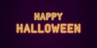 Неоновая праздничная надпись на хеллоуин стоковое фото