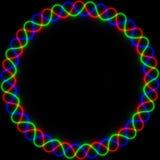 Неоновая рамка в цветах RGB Стоковое Изображение RF