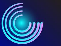 Неоновая смесь круга зарева 3d Элемент кольца Голубой накаляя блеск на темной предпосылке Стоковое Фото