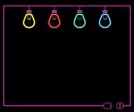 Неоновая электрическая лампочка Стоковые Изображения