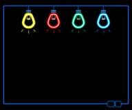 Неоновая электрическая лампочка Стоковые Изображения RF