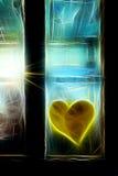 Неоновое окно Стоковое фото RF