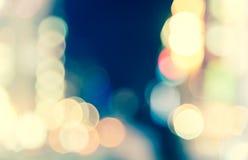 Неоновое свето нерезкости defocused на образе жизни ночи Стоковое фото RF