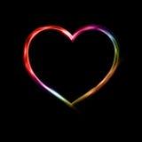 Неоновое сердце Стоковое Изображение RF