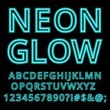 Неоновой шрифт алфавита зарева handcrafted таможней бесплатная иллюстрация