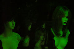 неоновые женщины Стоковые Изображения RF