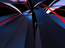 Неоновые линии Стоковое фото RF