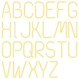 Неоновые письма, алфавит Стоковое Изображение RF