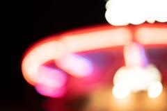 Неоновые света Carousel стоковые изображения rf