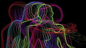 Неоновые танцоры иллюстрация вектора