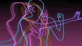 Неоновые танцоры бесплатная иллюстрация