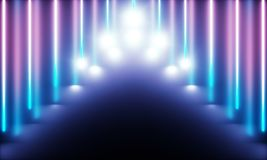 Неоновые трубки с чудесным светом бесплатная иллюстрация