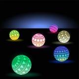 Неоновые шарики Иллюстрация вектора