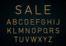 Неоновый желтый шрифт бесплатная иллюстрация