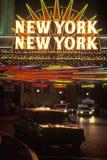Неоновый знак который читает � � New York, New York на гостинице и казино в Las Vegas, Неваде Стоковое Изображение RF