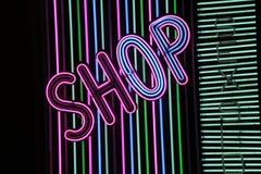 неоновый знак магазина Стоковая Фотография RF