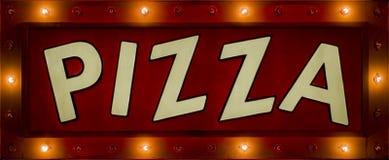 неоновый знак пиццы Стоковое фото RF
